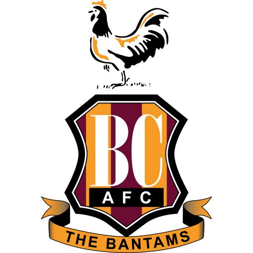 Bradford City AFC Ladies Sports T-Shirt