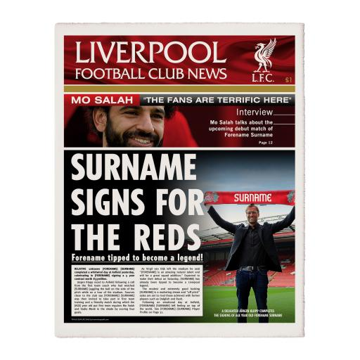 Liverpool FC News Single Page Print