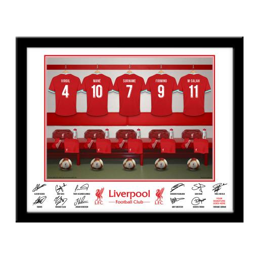 Liverpool FC Dressing Room Framed Print
