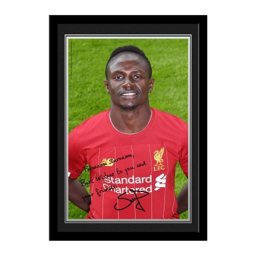 Liverpool FC Mané Autograph Photo Framed