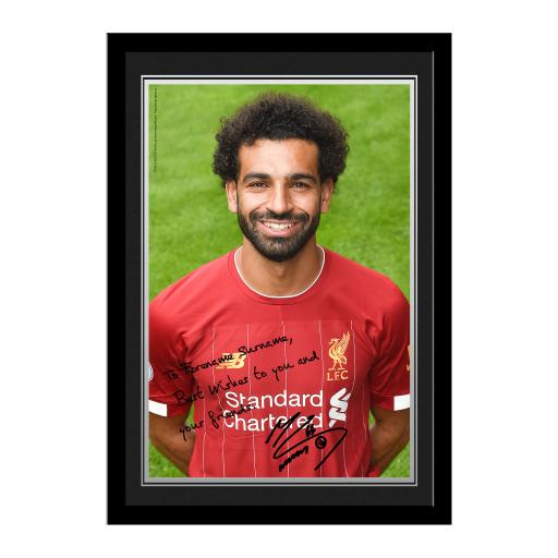 Liverpool FC Salah Autograph Photo Framed