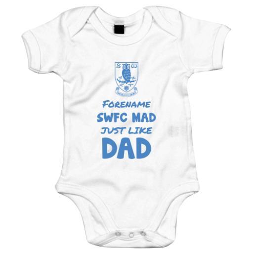 Sheffield Wednesday FC Mad Like Dad Baby Bodysuit
