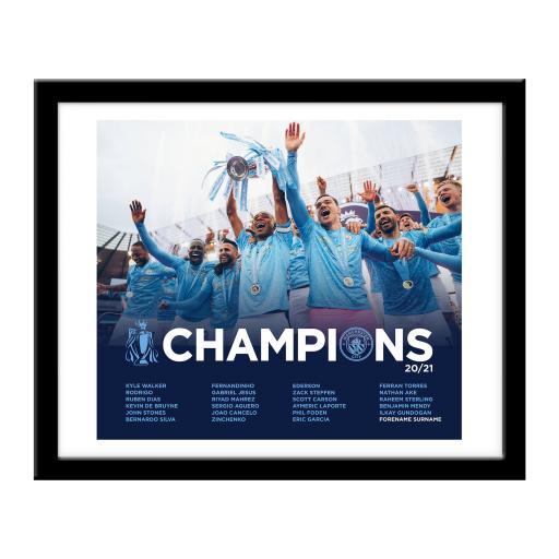 Manchester City FC Premier League Champions 2021 Team Photo Print