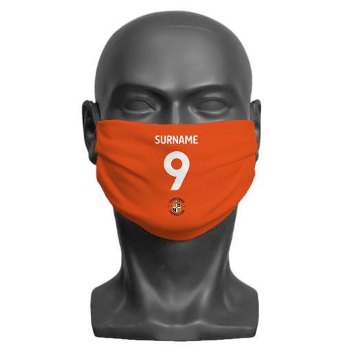 Luton Town FC Back of Shirt Adult Face Mask (Medium)