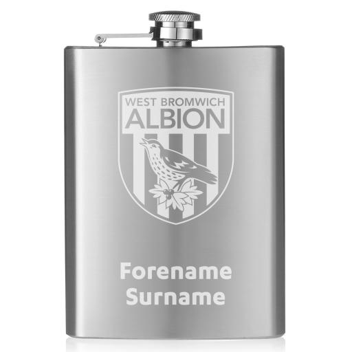 West Bromwich Albion FC Crest Hip Flask