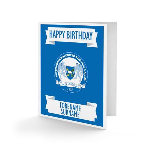 Peterborough United FC Crest Birthday Card