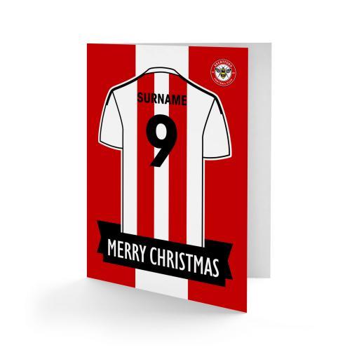 Brentford FC Shirt Christmas Card