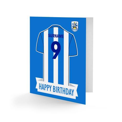 Huddersfield Town Shirt Birthday Card
