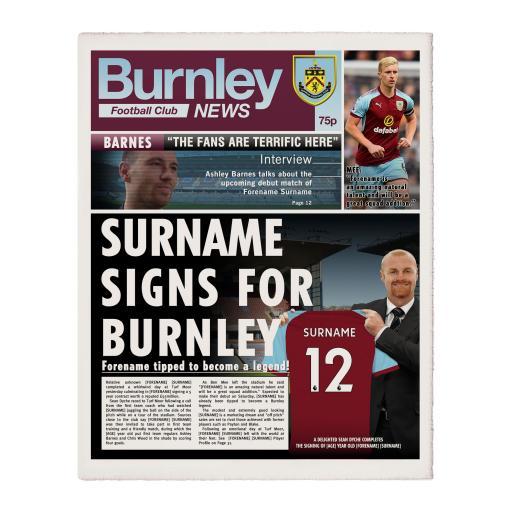 Burnley FC News Single Page Print