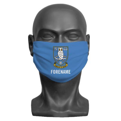Sheffield Wednesday FC Crest Adult Face Mask (Large)