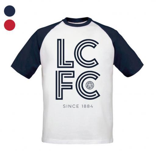 Leicester City FC Stripe Baseball T-Shirt