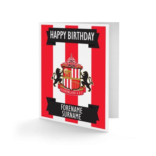 Sunderland AFC Crest Birthday Card