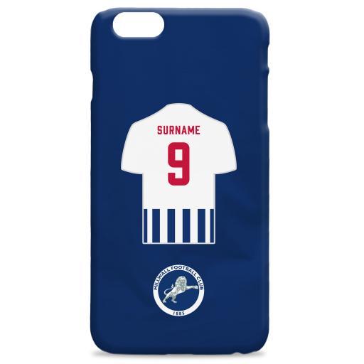 Millwall FC Shirt Hard Back Phone Case