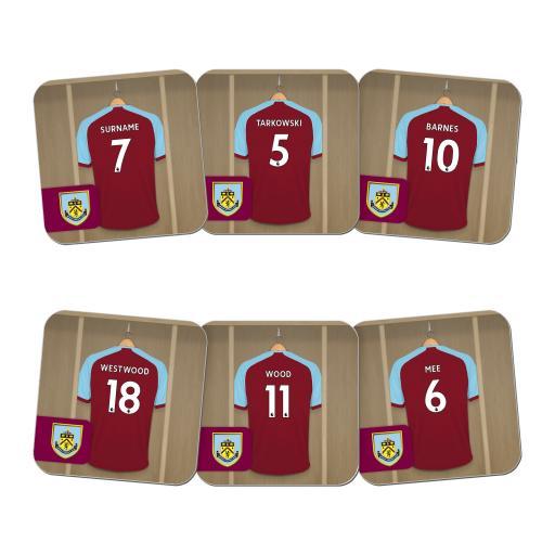 Burnley FC Dressing Room Coasters