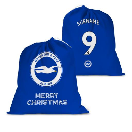 Brighton & Hove Albion FC Back of Shirt Santa Sack