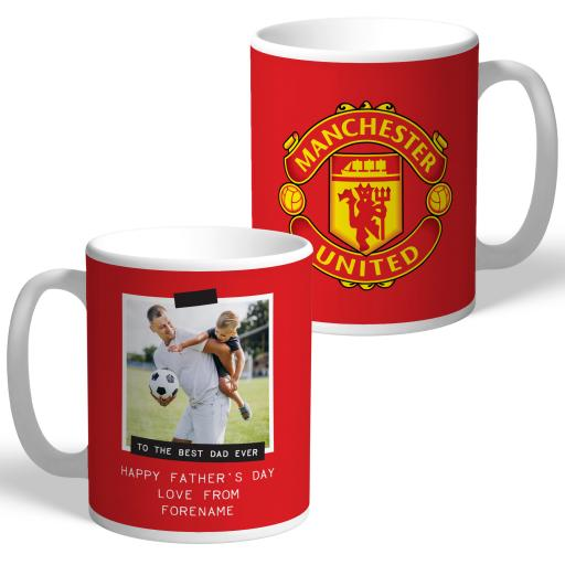 Manchester United FC Best Dad Ever Photo Upload Mug