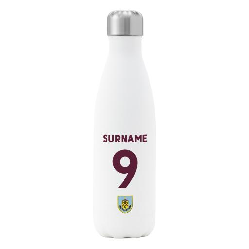 Burnley FC Back of Shirt Insulated Water Bottle - White