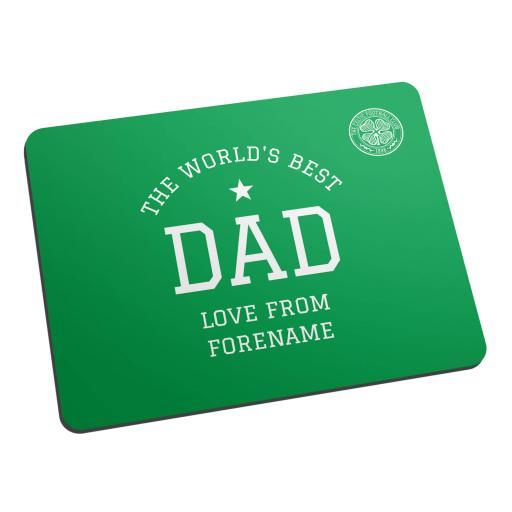 Celtic FC World's Best Dad Mouse Mat