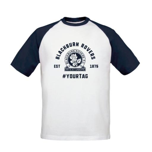Blackburn Rovers FC Vintage Hashtag Baseball T-Shirt