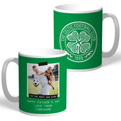 Celtic FC Best Dad Ever Photo Upload Mug