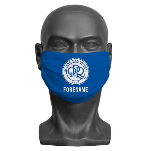 Queens Park Rangers FC Crest Adult Face Mask (Medium)