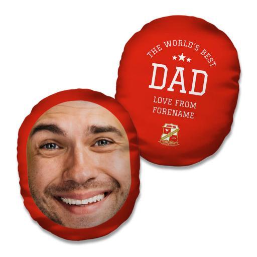 Swindon Town FC World's Best Dad Mush Cush