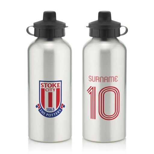 Stoke City FC Retro Shirt Water Bottle