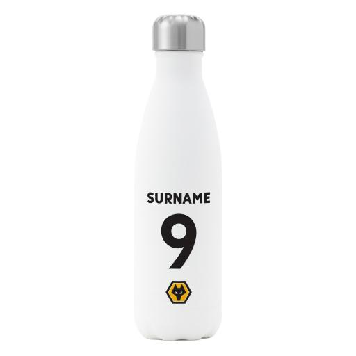 Wolves Back of Shirt Insulated Water Bottle - White