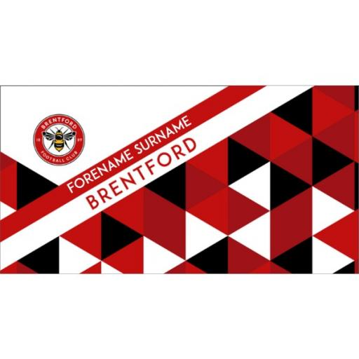 Brentford Personalised Towel - Geometric Design - 80 x 160