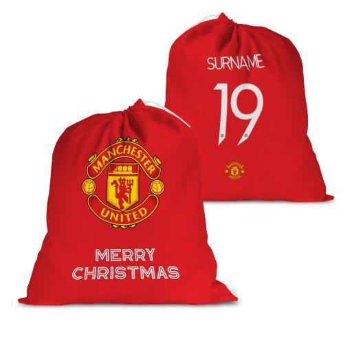 Manchester United FC Back of Shirt Santa Sack