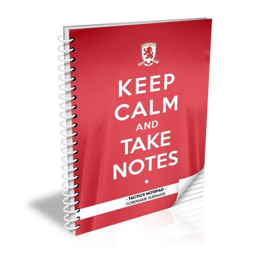 Middlesbrough FC Keep Calm Notebook