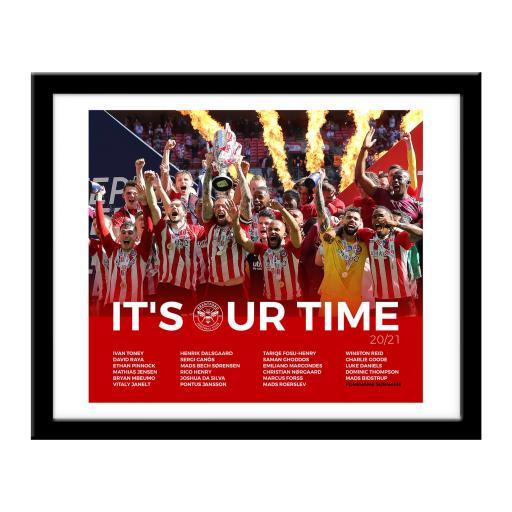 Brentford FC Promotion Team Photo Framed Print