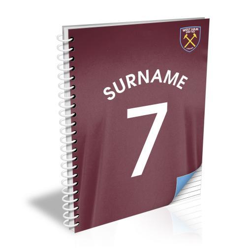 West Ham United FC Shirt Notebook