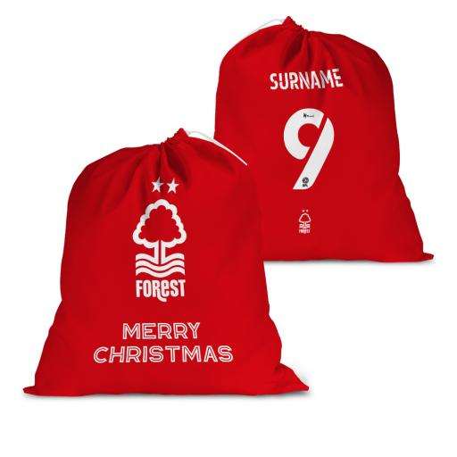 Nottingham Forest FC Back of Shirt Santa Sack