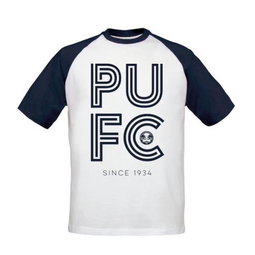 Peterborough United FC Stripe Baseball T-Shirt