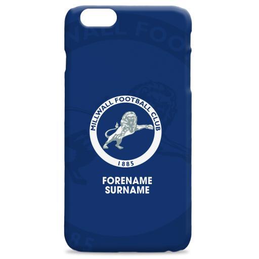 Millwall Bold Crest Hard Back Phone Case