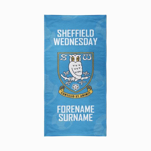 Sheffield Wednesday FC Crest Design Towel - 80cm x 160cm