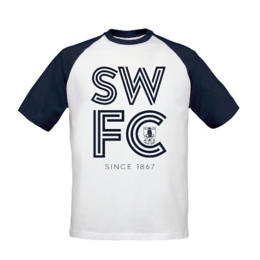 Sheffield Wednesday FC Stripe Baseball T-Shirt