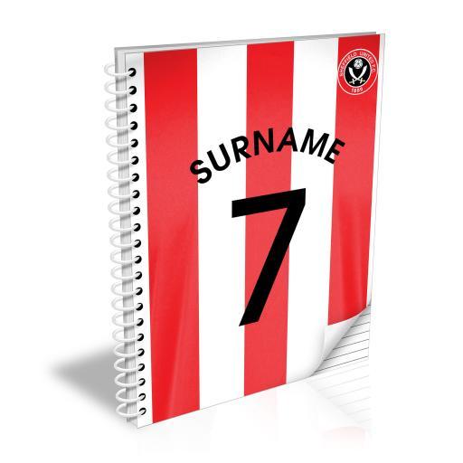 Sheffield United FC Shirt Notebook