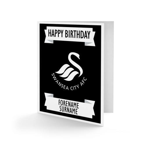 Swansea City AFC Crest Birthday Card