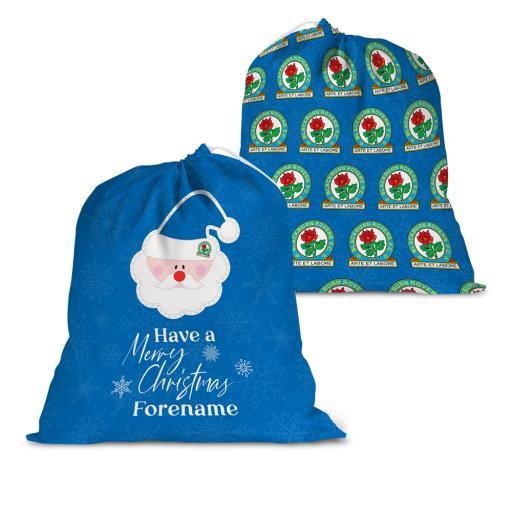 Blackburn Rovers FC Merry Christmas Santa Sack