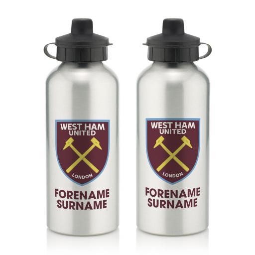 West Ham United FC Bold Crest Water Bottle