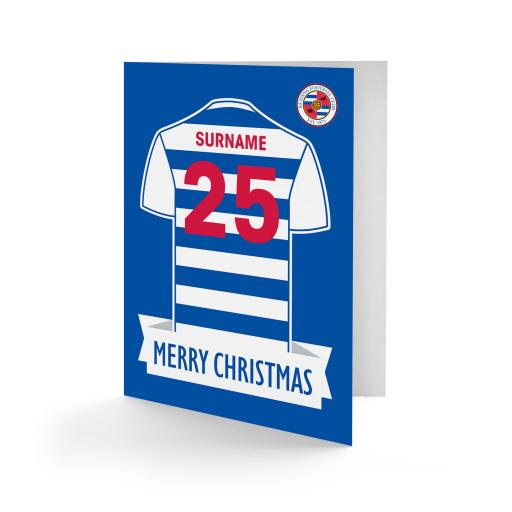Reading FC Shirt Christmas Card