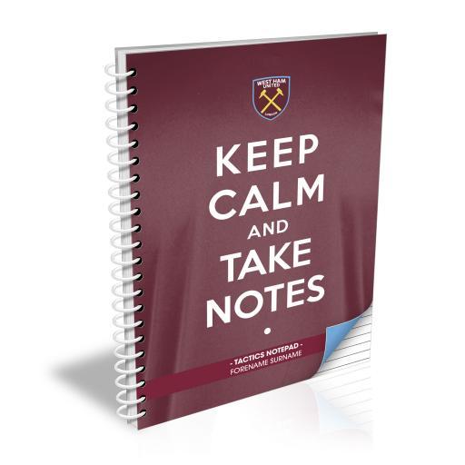 West Ham United FC Keep Calm Notebook