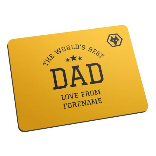 Wolves World's Best Dad Mouse Mat