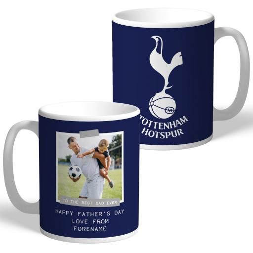 Tottenham Hotspur Best Dad Ever Photo Upload Mug