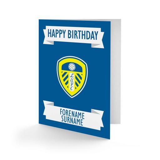 Leeds United FC Crest Birthday Card