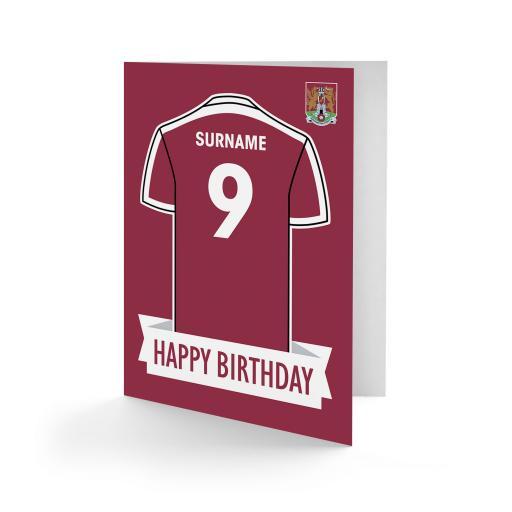 Northampton Town FC Shirt Birthday Card