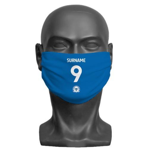 Peterborough United FC Back of Shirt Adult Face Mask (Large)