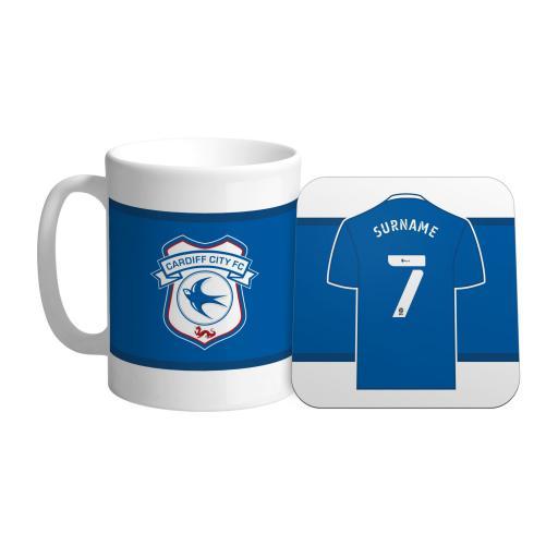 Cardiff City FC Shirt Mug & Coaster Set